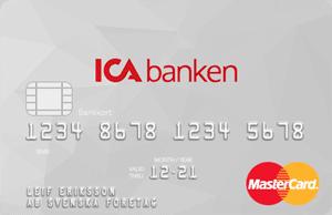 ICA Banken kreditkortet Bankkort Plus Mastercard