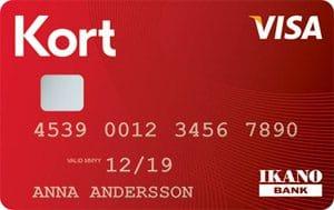 Ikano visa kreditkort