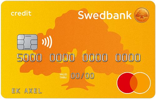 Swedbank betal och kreditkort mastercard