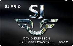 SJ Prio Mastercard svart