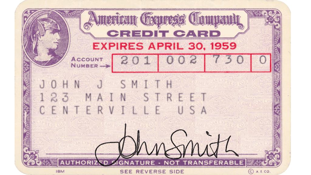 American Express - världens första kort i plast