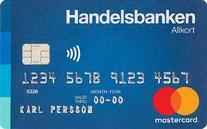 Handelsbanken Allkort Mastercard kreditkort