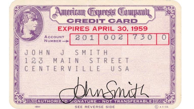 världens första kreditkort i plast